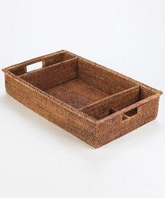 Love this Dinnerware Basket Caddy by Napa Home & Garden on #zulily! #zulilyfinds