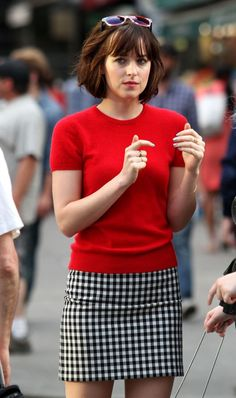 """Dakota Johnson on Set of """"How To Be Single"""" -in nyc 28 May 2015"""