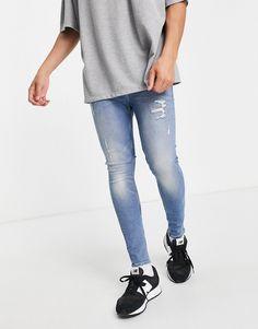 Asos, Super Skinny Jeans, Skinny Fit, Design Azul, Spray On Jeans, Superenge Jeans, Coton Biologique, Vintage Lighting, Cotton Spandex