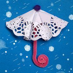 Manualitat per infants. Paraigües