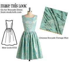 Awesome site - she tells you the pattern and fabric to use to make dresses from Modcloth and Anthropologie