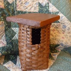 Birdhouse Basket by joannascollections on Etsy Large Baskets, Baskets On Wall, Wicker Baskets, Decorative Baskets, Wall Basket, Weaving Art, Hand Weaving, Weaving Patterns, Home Decor Accessories