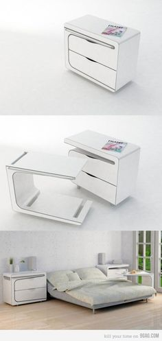 need to know where to find something like this! such a practical and clever and space-efficient design for a bedside table