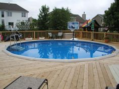Above Ground Pools Decks Idea | pool deck services warneru002639s decking pool decks above ground ...