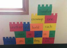 1 thessalonians 5:11 Lego curriculum decorations