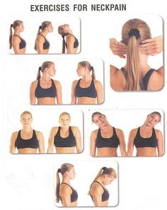 Neck pain exercises. Learn more about an all natural pain relief systems...Put an end to your pain!!  http://doctorspainreliefsystems.com/doctors-back-pain-system/  #painrelief