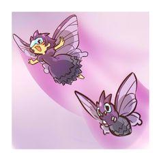 コンパン‐モルフォン ❤ liked on Polyvore featuring pokemon