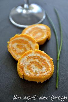 roulé,carotte,fromage frais,échalote,ciboulette,roulé salé,fromage de Mme Loïk,rappelle moi des mets,apéro,apéritif,pique-nique,léger,frais,apéritif dinatoire