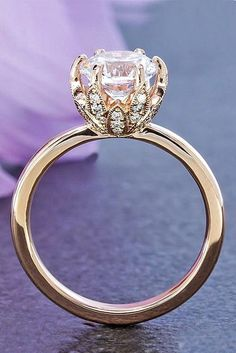24 Rose Gold Engagem  24 Rose Gold Engagement Rings That Melt Your Heart ❤️  Rose gold engagement rings are a fantastic choice for people with warm and cooler skin tones.See more:  www.weddingforwar...   #wedding   #engagement   #rings