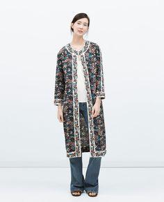 Image 1 de VESTE IMPRIMÉE de Zara Perfect spring tenue !!