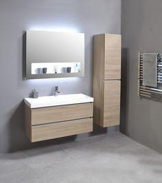 Modern Bathroom Mirrors, Chic Bathrooms, Amazing Bathrooms, Small Bathroom, Bathroom Cabinets, Bathroom Furniture, Corner Shelves, Vanity Cabinet, Toilet