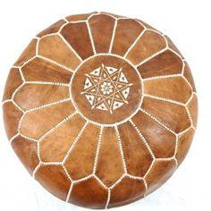Moroccan Premium Leather Pouffe