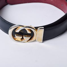 0a64a5862c4 Gucci Two-Toned Leather Belt