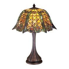 Meyda Tiffany 19876 Tiffany Single Light Up Lighting Table Lamp from the Duffner, Brown