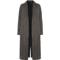 Dorothy Perkins Herringbone Maxi Coat (€47) ❤ liked on Polyvore featuring outerwear, coats, clearance, grey, dorothy perkins, herringbone coats, grey herringbone coat, maxi coat and gray coat