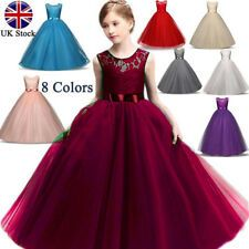 Buy Children Christening Girl Dress Kids Bow Tie Lace Long Dresses for Girls Princess Tutu Dress for Wedding Party Events Wear at Wish - Shopping Made Fun Princess Flower Girl Dresses, Lace Flower Girls, Dresses Kids Girl, Princess Tutu, Princess Wedding, Princess Party, Kids Outfits, Wedding Bridesmaid Dresses, Wedding Gowns