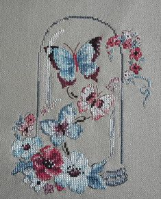 Kapalı havaya inat biraz renk...Yine #veroniqueenginger #çarpıişi #crossstitch #pointdecroix #puntocruz #handmade #kanaviçe #veroniqueenginger Tiny Cross Stitch, Butterfly Cross Stitch, Cross Stitch Boards, Simple Cross Stitch, Cross Stitch Animals, Cross Stitch Flowers, Cross Stitching, Cross Stitch Embroidery, Hand Embroidery