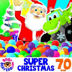 """This Kid's Christmas Compilation is Stuffed Like a Stocking with Xmas Carols, Colors Songs, Shapes Learning Videos & Busy Beavers """"SUPER CIRCUS 3D"""" Clips. Children will Love the Christmas Classics Like """"Jingle Bells"""", """"'Twas the Night Before Christmas"""" & More.  http://bit.ly/Super-Christmas-Songs"""
