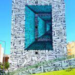 Calligraphic Optical Illusion Murals by Astro