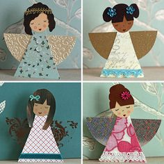 Four angels | Paper and clothespin angels - blogged. | KirstyNeale | Flickr