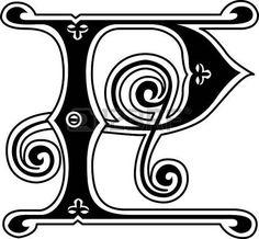 Estilo cl�sico, Ingl�s alfabeto letra P, monocromo photo