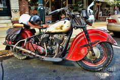 RARE Indian Motorcycle Photograph - RARE Indian Motorcycle Fine Art Print
