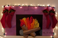 """My lovely daughter made this """"fireplace"""" in her apartment. Pretty hot :)"""