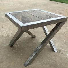 Amazing Shed Plans - Handcrafted steel OAK endtables Now You Can Build ANY Shed In A Weekend Even If You've Zero Woodworking Experience! Start building amazing sheds the easier way with a collection of shed plans! Welded Furniture, Steel Furniture, Industrial Furniture, Diy Furniture, Furniture Design, System Furniture, Furniture Plans, Metal Projects, Welding Projects