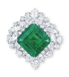 Harry Winston's Flawless Emerald Brooch Emerald Color, Emerald Diamond, Emerald City, Harry Winston, Emerald Jewelry, High Jewelry, Vip Fashion Australia, Luxury Purses, Trendy Clothing Stores