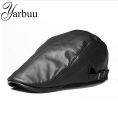 fae5dc12933b2  YARBUU  Berets New fashion high quality cap for men and women spring  Autumn Leather Berets Boinas Caps Winter Warm Hats cap-in Berets from Men s  Clothing ...