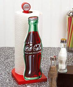 Coke Coca Cola Bottle Vintage Design Kitchen Bar Wood Paper Towel