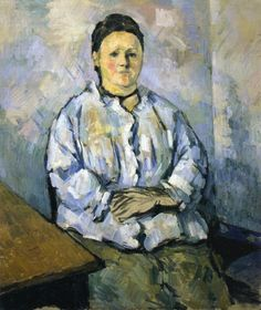 Seated Woman Artwork By Paul Cezanne Oil Painting & Art Prints On Canvas For Sale Whistler, Paul Cezanne Artwork, Cezanne Portraits, Art Sur Toile, Aix En Provence, French Art, Oil Painting Reproductions, Renoir, Famous Artists