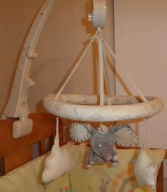 Dumbo Musical Cot Crib Mobile From The Disney Store Dumbo Nursery, Baby Necessities, Cot, Elephants, Mobiles, Bassinet, Cribs, Disney, Furniture