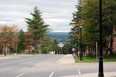 Another beautiful downhill shot in the fall. New Brunswick, Most Beautiful, Sidewalk, Shots, Explore, Fall, Autumn, Sidewalks, Exploring