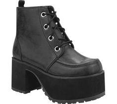 T.U.K. Original Footwear Women's Nosebleed Ankle Boot,Bla...