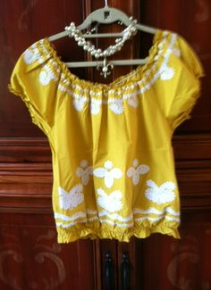 Ivy Jane Yellow Peasant Embroidered top.  $138.