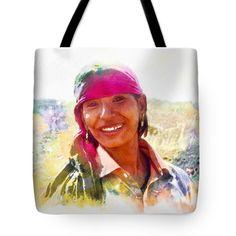 "Smile Harvest India Rajasthan 3a Tote Bag 18"" x 18"""