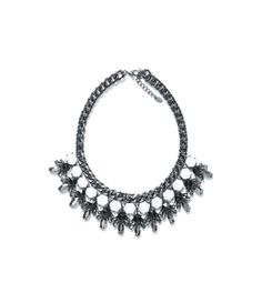 The quality and finish to the collar are blameless. In black white colors and hematite it will agree to any outfit. The materials used are also quality, rendering crystal is perfect. This bib is perfect to get you value Necklace Weight: 210 grams Rhinestone Necklace, Collar Necklace, Zara, Cheap Necklaces, Jewelry Necklaces, Geometric Necklace, Jewels, Diamond, Accessories