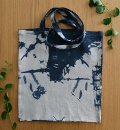 Unique hand dyed tote bag. Check out my Etsy shop for more handmade bags! White Tea Mugs, Bag Design, Tie Dyed, Handmade Bags, Shibori, Canvas Tote Bags, Black Cotton, Different Styles, Cotton Canvas