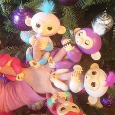 #BOUBBERS hit the santa jackpot and scored some monkey mayhem!  good thing they like to sleep and don't fling poo!!! #fingerlings #fingermonkeys #cutelittlebuggers #BABYCAKES #theyfartalot