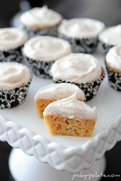 sweet potato cupcakes/cream cheese frosting