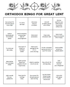 Introducing a fun way to get your youth involved in service projects. On this BINGO card are listed 20 ideas for Great Lent that will enh. Kids Sunday School Lessons, Sunday School Projects, Sunday School Teacher, Lessons For Kids, School Ideas, Religion Activities, Bible Activities, Church Activities, Lent Kids