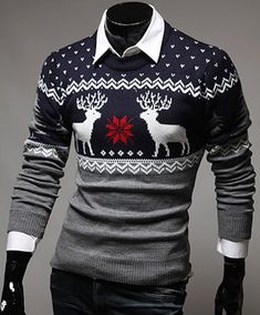 GET $50 NOW | Join RoseGal: Get YOUR $50 NOW!http://www.rosegal.com/sweaters-cardigans/color-spliced-christmas-snowflake-deer-279077.html?seid=6819706rg279077