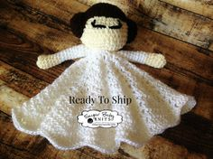 Princess Lovey Princess Leia Inspired Lovey by SugarBabyKnits