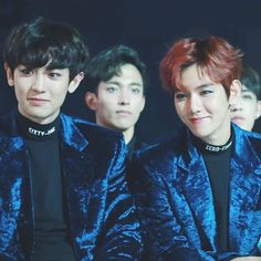 Chanbaek and 17 in the background