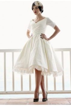 Short Mini Wedding Dresses Short & Mini Length Tea Length