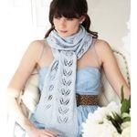 Twin Leaf Scarf--Free Knit Pattern