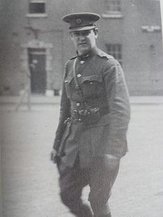Michael Collins in uniform, Portobello Barracks, 1922 Ireland 1916, Irish Independence, Michael Collins, Irish Culture, Black Clover Anime, Dublin City, Portobello, Old Photos, Soldiers