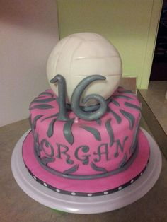 sweet 16 volleyball cake! So cool not even mine obviously and has my name on it