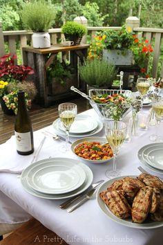 Putting together a garden wine party